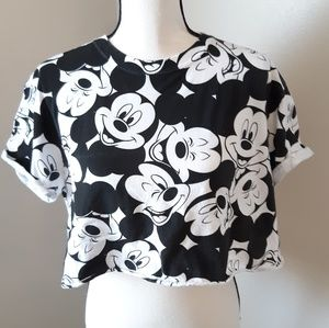 Disney Mickey Mouse Crop Top L